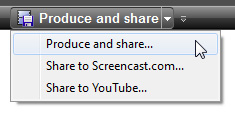 Camtasia Studio 7 - Produce and share
